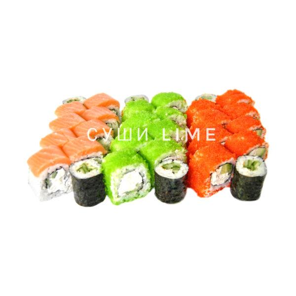 Сет Суши Лайм с копчёным лососем